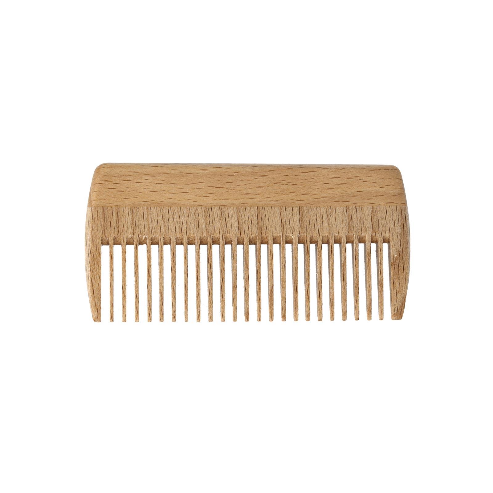Peine de madera de haya para barba y bigote - PureNature 02e52fb76bab
